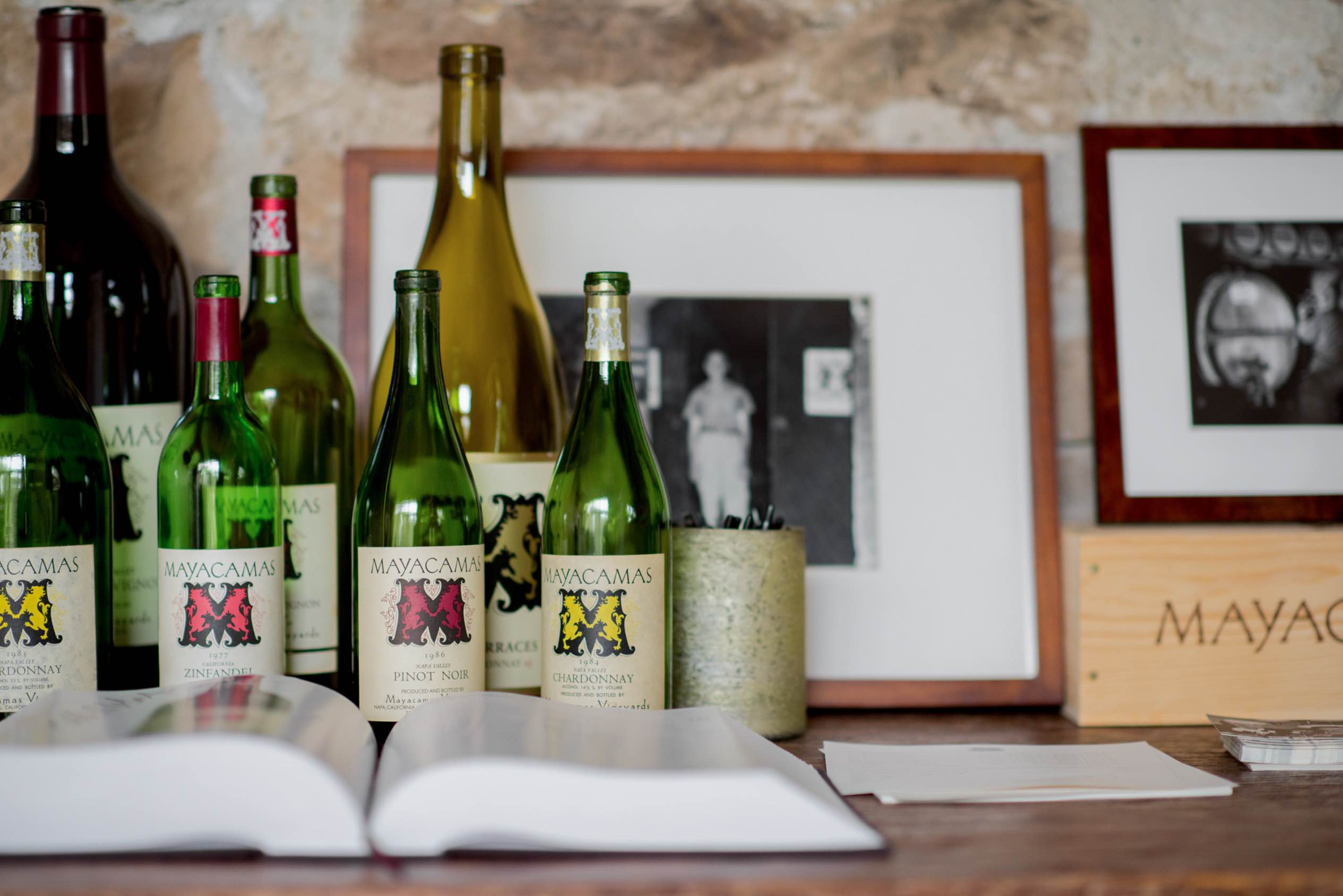 Bottles Past & Present, 2018 - Mayacamas Vineyards